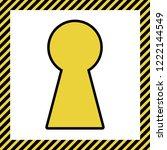 keyhole sign illustration.... | Shutterstock .eps vector #1222144549