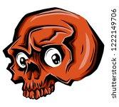 cartoon vector skull. skull... | Shutterstock .eps vector #1222149706