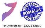 halftone dot map of somalia and ... | Shutterstock .eps vector #1222152880