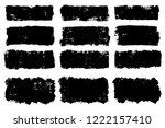 vector set of hand drawn brush... | Shutterstock .eps vector #1222157410
