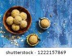 oats laddu or  ladoo   diwali... | Shutterstock . vector #1222157869