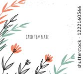 gift template  invitation card... | Shutterstock .eps vector #1222160566