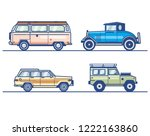 car collections  vintage car | Shutterstock .eps vector #1222163860