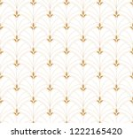 seamless art deco pattern.... | Shutterstock .eps vector #1222165420