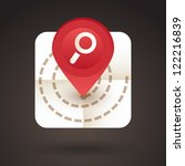 vector red map icon with... | Shutterstock .eps vector #122216839