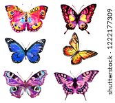beautiful pink butterfly... | Shutterstock . vector #1222177309
