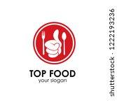 top food logo template | Shutterstock .eps vector #1222193236