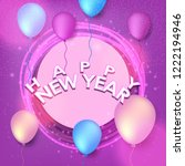 2019 happy new year background. ... | Shutterstock .eps vector #1222194946