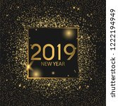 2019 happy new year background. ... | Shutterstock .eps vector #1222194949