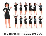 business woman cartoon... | Shutterstock .eps vector #1222195390