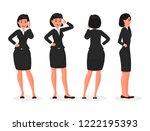 business woman cartoon... | Shutterstock .eps vector #1222195393