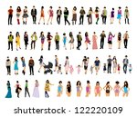 people | Shutterstock .eps vector #122220109