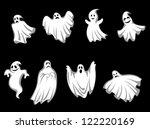 set of ghosts for halloween... | Shutterstock .eps vector #122220169