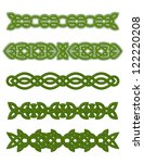 Green Celtic Ornaments And...