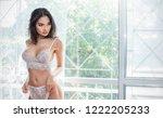 portrait of asian sexy woman... | Shutterstock . vector #1222205233