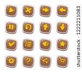 set of 16 wooden icons in...