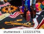 shaman spiritual tools on the... | Shutterstock . vector #1222213756