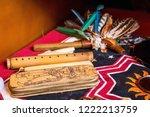 shaman spiritual tools on the... | Shutterstock . vector #1222213759