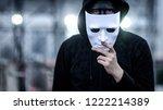 mystery hoodie man with broken... | Shutterstock . vector #1222214389