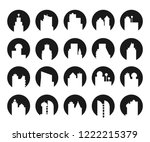 building icons in circle shape | Shutterstock .eps vector #1222215379