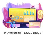 data analyst consolidating...   Shutterstock .eps vector #1222218073