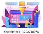 dashboard consolidating metrics ... | Shutterstock .eps vector #1222218076
