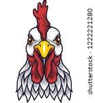 chicken rooster head mascot | Shutterstock .eps vector #1222221280