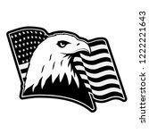 bald eagle symbol of north...   Shutterstock .eps vector #1222221643