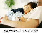 Cute Biracial Baby Boy Asleep...