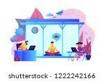 business people working at...   Shutterstock .eps vector #1222242166