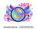 businessman and woman near huge ... | Shutterstock .eps vector #1222242193