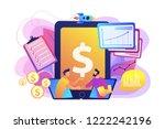 demand analysts shaking hands... | Shutterstock .eps vector #1222242196