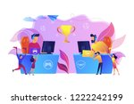 two cyber sport players at...   Shutterstock .eps vector #1222242199