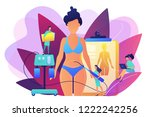 plastic surgeon with a suction...   Shutterstock .eps vector #1222242256