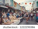 phuket town  thailand  ... | Shutterstock . vector #1222250386