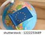flag of the european union eu... | Shutterstock . vector #1222253689