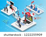 internet of things and data... | Shutterstock .eps vector #1222255909