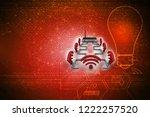 3d rendering transmitter wifi | Shutterstock . vector #1222257520