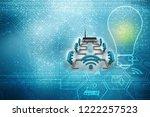 3d rendering transmitter wifi | Shutterstock . vector #1222257523