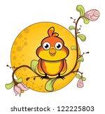 sparrow flower background   Shutterstock .eps vector #122225803