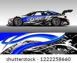 racing car decal graphic vector ...   Shutterstock .eps vector #1222258660