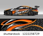 racing car decal graphic vector ... | Shutterstock .eps vector #1222258729