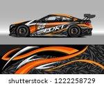 racing car decal graphic vector ... | Shutterstock .eps vector #1222258729