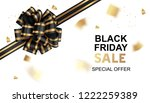 black friday sale card template ... | Shutterstock .eps vector #1222259389
