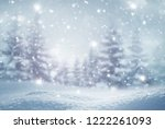 winter  background .merry... | Shutterstock . vector #1222261093