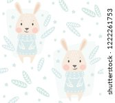 banny baby winter seamless...   Shutterstock .eps vector #1222261753