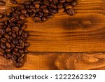 pile of the coffee beans on... | Shutterstock . vector #1222262329