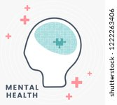 mental health and therapy vector | Shutterstock .eps vector #1222263406