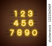 number 0 9 numeral system vector   Shutterstock .eps vector #1222263409