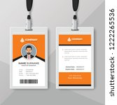 elegant orange id card design...   Shutterstock .eps vector #1222265536
